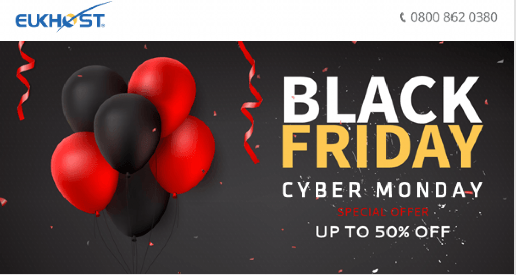 Black Friday deals 2018 and cyber monday sale 2018 Offers by EUKHOST