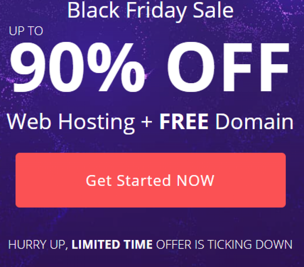Black Friday Deals 2018 - Hostinger