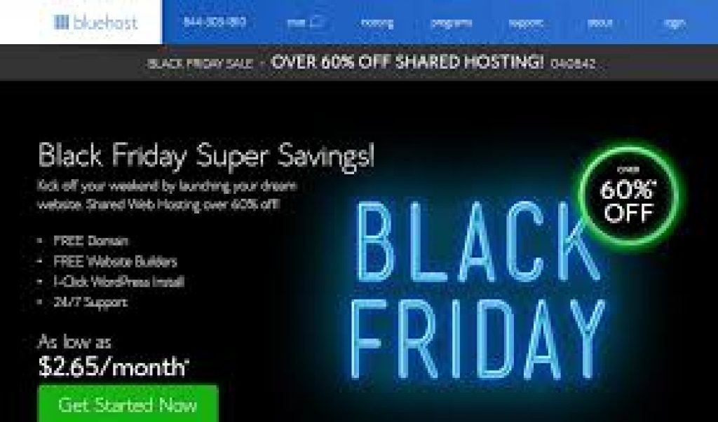 BlueHost Black Friday deals and cyber monday sale 2018