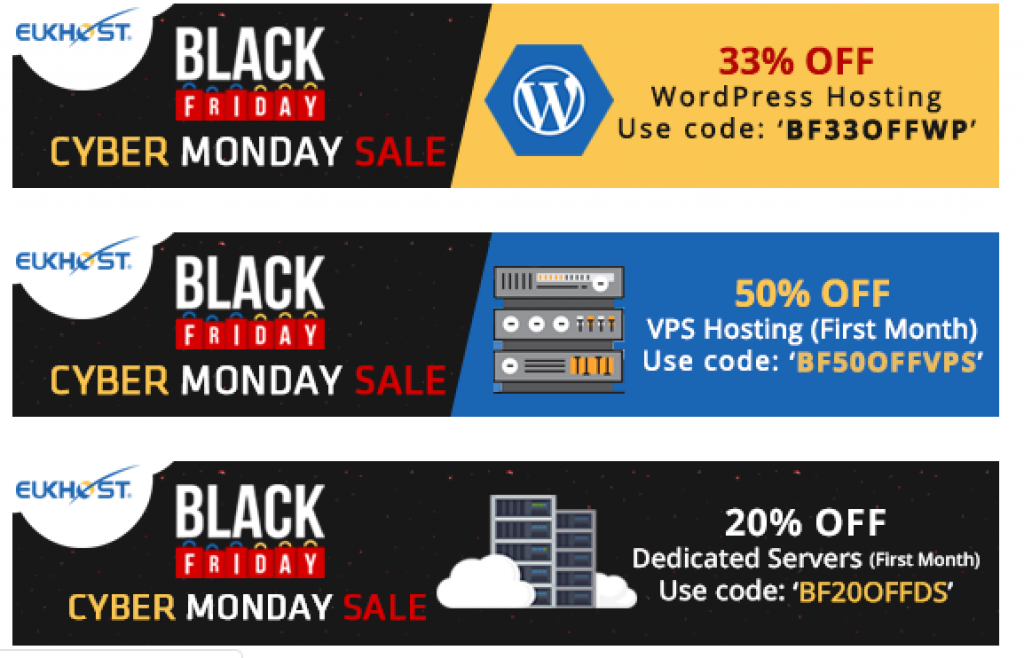 Cyber Monday sale and Black Friday deals 2018 hottest offers from EUKHost