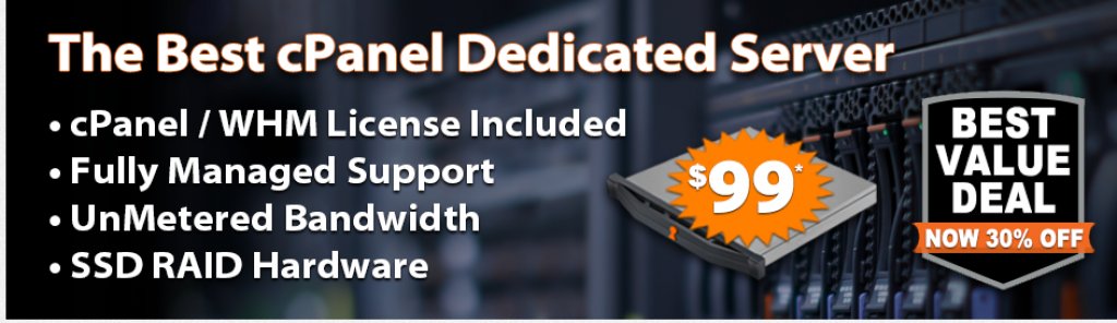 Black Friday Deals 2018 - Best Cpanel Dedicated Server - Turnkey Internet